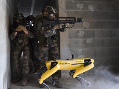 Французька армія провела спільні навчання з роботизованим собакою Spot