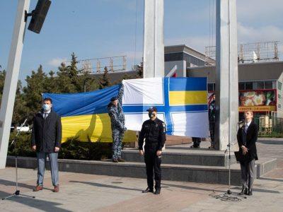 На честь 103-ї річниці проголошення Чорноморського флоту флотом УНР у Маріуполі замайорів прапор ВМС України