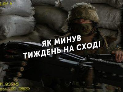 Тиждень на передовій: 80 порушень режиму «тиші», один захисник України загинув