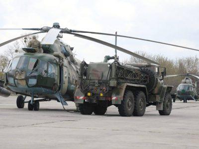 У вертолітників, які готуються до ротації в Конго, триває бойове злагодження