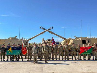 Українські гармаші освоюють польський полігон та налагоджують взаємодію з іноземними колегами