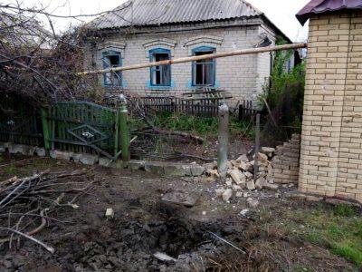 Російсько-окупаційні війська обстріляли з гармат цивільну інфраструктуру – житловий сектор Мар'їнки