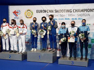 Українки в фіналі перестріляли росіянок і стали чемпіонами Європи зі стрільби кульової