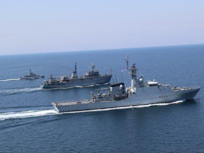 В акваторії Чорного моря Військово-Морські Сили України та Великої Британії провели спільне тренування типу PASSEX