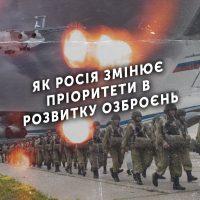 Як Росія змінює пріоритети в розвитку озброєнь