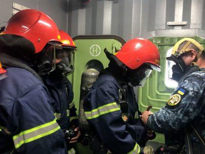 У Навчальному центрі ВМС ЗС України триває централізована підготовка з боротьби за живучість корабля