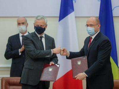 Україна та Франція підписали чотири рамкові угоди на 1,3 млрд євро