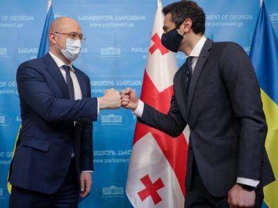 Прем'єр-міністр України та Голова Парламенту Грузії обговорили рух країн в ЄС і НАТО