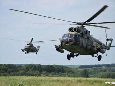 На Полтавщині вертолітники відпрацювали завдання з оперативного аеродрому