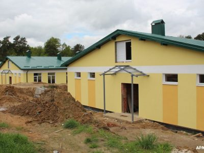 Поряд із казармами у Міжнародному центрі миротворчості та безпеки будують і сучасні очисні споруди