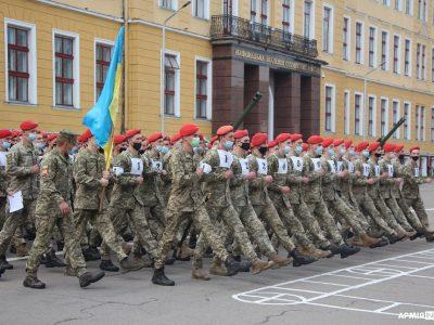 208 годин тренуватимуться до параду на День Незалежності львівські курсанти