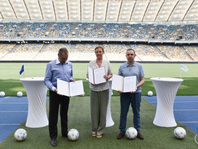 Тристоронній меморандум підтримуватиме захисників України через футбольні заходи
