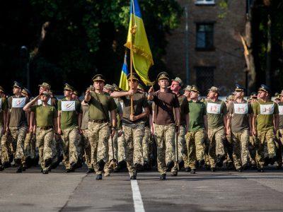 Парадний розрахунок університету оборони готується до військового параду