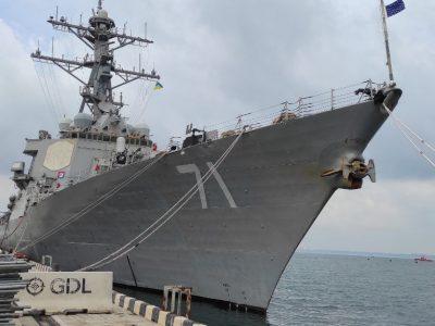 Американські партнери показали українським журналістам озброєння ракетного есмінця USS DDG71 Ross
