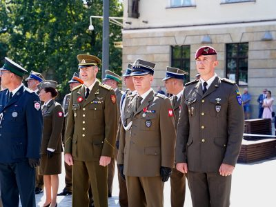 Офіцери ЛИТПОЛУКРБРИГ відзначають День Збройних сил Польщі