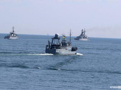 Прохід бойових кораблів і проліт авіації в Одесі