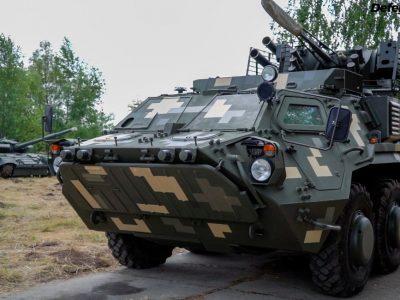 Новий камуфляж бронетехніки ЗСУ на прикладі БТР-4, що змінилось