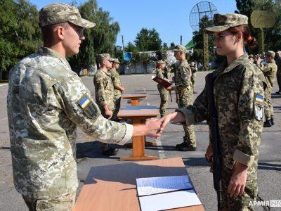 На вірність українському народові присягнули майбутні сержанти-зв'язківці