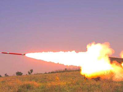 Успішно виконані пуски вітчизняних реактивних снарядів «Тайфун-1»