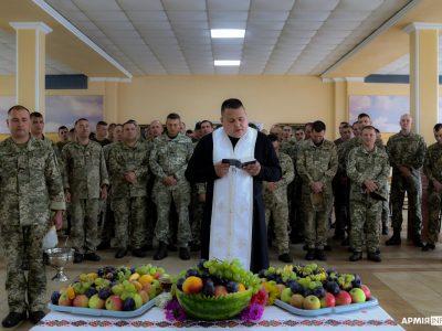 Як львівські курсанти відзначали на полігоні свято Преображення Господнього