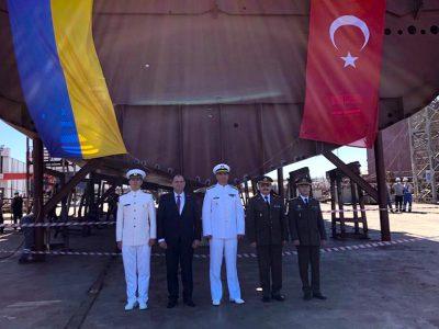 Церемонія закладки корабля типу ADA для потреб Військово-Морських Сил ЗС України відбулась у Туреччині