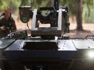 Ізраїльська фірма представляє озброєного робота для дистанційного патрулювання