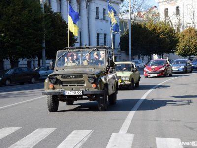 Юні мешканці Полтавщини провели військово-патріотичний автопробіг з нагоди Дня визволення міста
