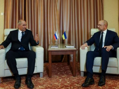 Денис Шмигаль обговорив євроінтеграцію України з Прем'єр-міністром Словенії