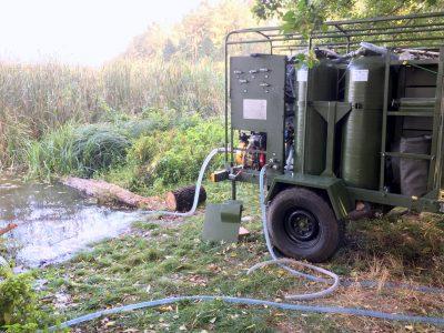 Станція для очищення води «Джерело-2000» проходить випробування у польових умовах