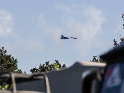 «Об'єднані зусилля – 2021»: у небі над Львівщиною винищувачі Су-27 та CF-18 Hornet