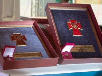 Ветеранською відзнакою «Багряний Хрест» нагороджено Музей АТО у Дніпрі